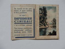 Petit Calendrier De L'imprimerie Centrale 5, Rue De La Sirène à Romorantin (41). - Calendriers