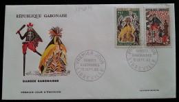 GABON - FDC 1965 - YT N°183, 184 - Danses Gabonaises - Gabon