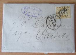 Lettre Avec Timbre 40c Napoléon YT N°23 Orange Clair - Oblitération GC 2795 (Pau) - 8 Décembre 1873 - Cachet Mérillon - 1849-1876: Classic Period
