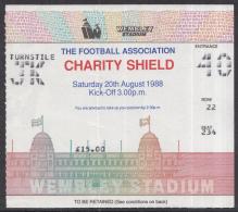 Voetbal - Charity Shield 1988 Liverpool - Wimbledon - Wembley Stadium - Londen - 20-08-1988 - Toegangskaarten