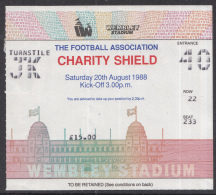 Voetbal - Charity Shield 1988 Liverpool - Wimbledon - Wembley Stadium - Londen - 20-08-1988 - Eintrittskarten