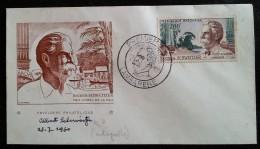 GABON - FDC 1960 - YT Aérien N°1 - Albert Schweitzer - Gabon (1960-...)