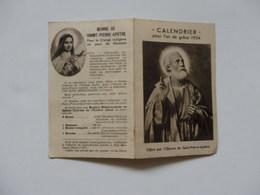 Petit Calendrier 1934 De L'oeuvre De Saint-Pierre-Apotre. - Calendars