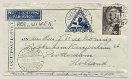 Nederlands Indië - 1934 - Terugvlucht Uiver/Medan Op Briefje Van Medan/2 Naar Rotterdam / Nederland - Nederlands-Indië