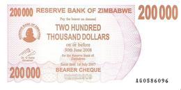 Zimbabwe - Pick 49 - 200.000 (200000) Dollars 2007 - Unc - Zimbabwe