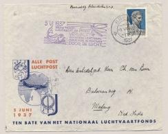 Nederland / Nederlands Indië - 1937 - 12,5c Jamboree Zegel Op LP-cover Van Breda Naar Malang/7 - Nederlands-Indië
