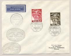 Nederlands Indië - 1937 - Jamboree Set Op LP-cover Van Bandoeng Naar Postkantoor Schiphol - Nederlands-Indië