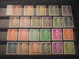 SPAGNA - 1955/8 FRANCO 23 Valori - NUOVI(++) - 1951-60 Nuevos & Fijasellos