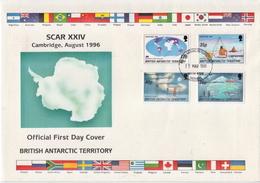 British Antarctic Set On FDC - FDC