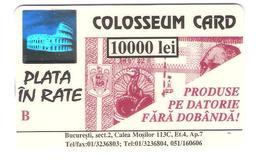Romania - Colosseum Card - Banca Bucuresti - Banknote - Bank Note - Geldschein - Hologram - Hologramm - No Phonecard !! - Rumänien