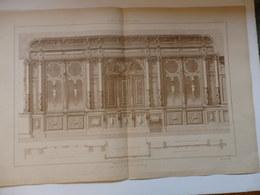 Planche D'architecture D'un Magasin De Bijouterie éditeur H.Vial à Dourdan (91). - Architettura
