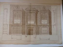 Planche D'architecture D'un Magasin De Bronzes Et D'orfévrerie éditeur H.Vial à Dourdan (91). - Architettura