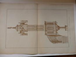 Planche D'architecture De La Chaire à Prêcher Exécutée à L'Hospice Générale De Meaux (77) éditée Par H. Vial Dourdan 91. - Architettura