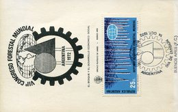 32832  Argentina, Fdc 1972  Tree World Forestry Congress - Trees