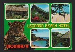 Mombasa Kenya Leopard Beach Hotel Cpa Viaggiata 1982 Case Strade Ponti Panorami - Kenia