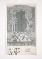 Ex-libris Moderne XXème Illustré -  Allemagne - PETER GLOECK - Ex Libris