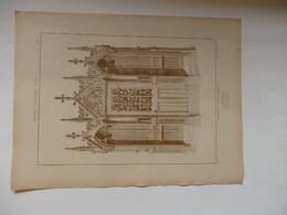 Planche D'architecture D'un Confessionnal Du XIII éme Siècle éditée Par H. Vial Dourdan 91. - Architettura