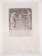 Ex-libris Moderne XXème Illustré -  Allemagne -  FRANK WEDEKIND - Ex Libris