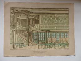 Planche D'Architecture D'un Restaurant à Champeaux (77) Mr Risler Architecte éditée Par H. Vial Dourdan 91. - Architettura