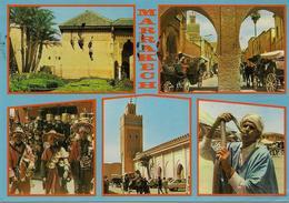 CPM Maroc, Marrakech (multivues) - Marrakesh