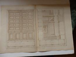 Planche D'Architecture, Plan Et Coupe Et Ensemble D'un Casier à Trappes (78) éditée Par H. Vial Dourdan 91. - Architettura