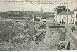 35,Ile Et Vilaine, SAINT-SERVAN, La Terrasse De LHotel Victoria, Au Loin Saint-Malo, Animations, Scan Recto-Verso - Saint Servan