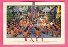 BALI Indonesia Dance Cpa 1995 Case Strade Ponti Panorami Monumenti Houses Roads Bridges Panoramas Monuments - Indonesia
