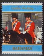 Golden Wedding: BAHAMAS 1997 50c; MNH SG 1115 & SAMOA 70c; MNH SG1008M - Bahamas (1973-...)