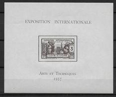 EXPO 1937 - COTE D'IVOIRE - BLOC YT N° 1 * - CHARNIERE - COTE = 10.5 EUR - 1937 Exposition Internationale De Paris