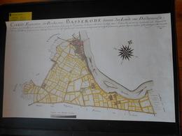 Repro Oude Kadasterkaart Baasrode Baesrode Basserode 1785 Dendermonde Op Zwaar Papier  60,5cm Op 100cm - Cartes Topographiques