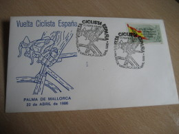 VUELTA CICLISTA A ESPAÑA Ciclismo Bicicleta Cycling Bicycle PALMA DE MALLORCA 1986 Cancel Cover Baleares Balears SPAIN - Cycling