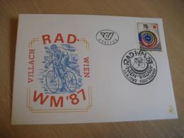 RAD WM Cycling Bicycle WIEN - VILLACH 1987 FDC Cancel Cover AUSTRIA - Ciclismo