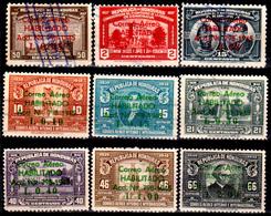 Honduras-0055 - Posta Aerea 1945: Y&T N 137/145 (o) Used - - Honduras