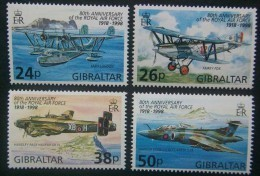 Gibraltar 1998 Yvertn° 827-30 *** MNH Cote 7 €  Avions Airplanes Vliegtuigen - Gibraltar
