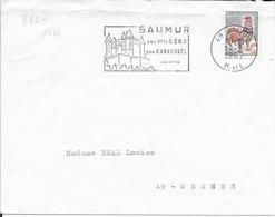 MAINE ET LOIRE 49 -  SAUMUR - FLAMME N° 880a - DESCRIPTION -  1967 -   VINS - Postmark Collection (Covers)