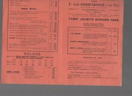 Champagnole (39 Jura)  GIRAUD SAUVEUR  Catalogue 1956 (PPP8294) - Advertising