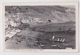 SESIMBRA (Setubal) - Aspecto Da Praia Em Dia De Regatas - Affranchissement Timbre - Stamp Cancellation Portugal - Setúbal