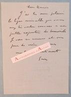 L.A.S 1914 Georges Goursat Dit SEM IIlustrateur Caricaturiste écrivain à M EPHRAIM Au Cri De Paris Lettre Autographe Ww1 - Autographes