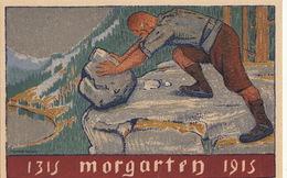 Carte Postale Officielle Anniversaire De Morgarten 1315-1915, Journée Uranaise ! - Entiers Postaux