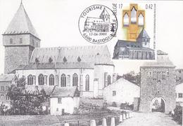 Carte-Maximum BELGIQUE N° Yvert 2927 (EGLISE De BASTOGNE) Obl Sp Ill 1er Jour - 1991-2000