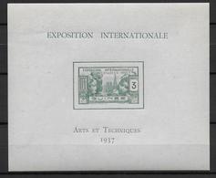 EXPO 1937 - GUINEE - BLOC YT N° 1 ** - SANS CHARNIERE - COTE = 14.3 EUR - 1937 Exposition Internationale De Paris