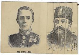 CPA Carte à Système Roi D' Espagne, Souvenir Historique 1905, Souverains En France RARE!! - Cartes Postales