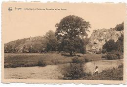 LOGNE : L'Ourthe. La Roche Aux Corneilles Et Les Ruines - Pêcheur - Ferrieres