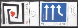 Island 1133/34 Seitenrand ** Postfrisch - 1944-... Republik