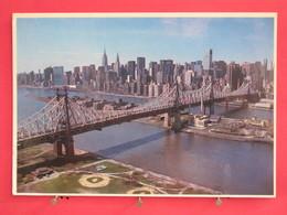 Etats Unis - New York - Queensboro Bridge Spanning The East River - Joli Timbre - Scans Recto-verso - Ponts & Tunnels