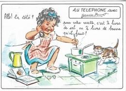 Illustrateurs & Photographes - Signés - Germaine Bouret - AU TELEPHONE - écrite - - Bouret, Germaine