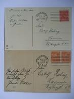 GERMANY - December 1922 Inflation Postcards X 2  - Hannover  Postmarks - Allemagne