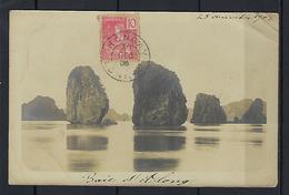 CPA Carte Photo, Baie D' Along Le 28 Septembre 1905 Oblitéré Hongay - Cartes Postales