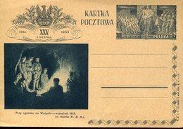 32842 Poland,stationery Card  15gr. 1939 Przy Ognisku Na Wolyniu Wrzesien 1915 - Ganzsachen