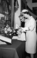Postcard / ROYALTY / België / Belgique / Koningin Fabiola / Reine Fabiola / Sint-Agatha-Berchem / 1961 - St-Agatha-Berchem - Berchem-Ste-Agathe